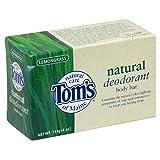 Tom's of Maine Natural Care Deodorant Body Bar, Natural, Lemongrass, 4oz (113 g) (Pack of 6)