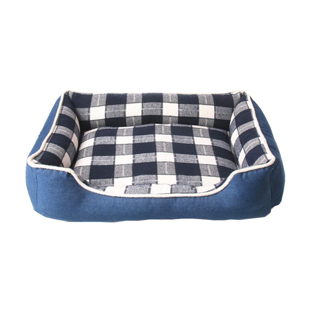 Hxyan Dog Bed Pet Bed Dog Sofa Removable And Washable Denim Fabric PP Cotton 80  59  17cm