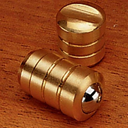 Brass Bullet Catch, 1/4'' Diameter, Light Duty by Brusso