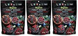 Wild & Real, Dried Organic Forest Berries, Cranberries, Blueberries, Cherries, 3.5 oz Per Pouch, 3 Pack