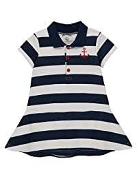 Wan-A-Beez Baby Girls' Pique Polo Dress Set
