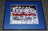 2013-14 New York Rangers Team Signed Framed 11x14 Photo Lundqvist McDonagh + 18 - Autographed NHL Photos