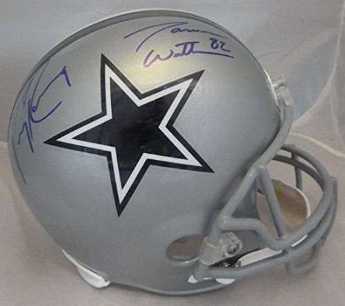 Tony Romo & Jason Witten Autographed Dallas Cowboys full Size Replica Helmet - JSA Authenticated - Autographed NFL Helmets (Romo Autographed Tony Helmet)