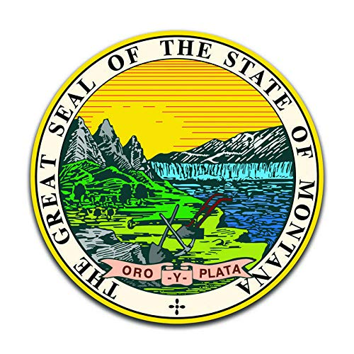 Montana State Seal - Montana State Seal (2 Pack) Vinyl Decal Sticker - Car Truck Van SUV Window Wall Cup Laptop - Two 5 Inch Decals - MKS0913