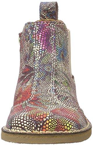 Bisgaard Mädchen Stiefel Chelsea Boots Mehrfarbig (2012-1 Flower-orange)