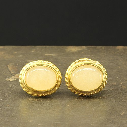 Natural Light Pink Agate Carnelian Stud Earrings 925 Solid Sterling Silver 24K Yellow Gold Vermeil Roman Art Handcrafted Artisan Handmade Cabochon Gemstone Earrings
