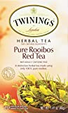 Twinings Herbal Tea,Pure Rooibos Red Tea, 20 Count Bagged Tea (6 Pack)