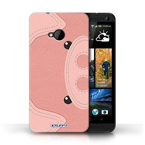Coque de Stuff4 / Coque pour HTC One/1 M7 / Cochon Design / Cousu des Animaux Effet Collection