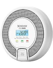 X-Sense CO-melder met digitaal display, koolmonoxidemelder, nauwkeurige sensor met 10 jaar levensduur, batterij vervangbaar, BSI-gecertificeerd volgens EN 50291, CO03D