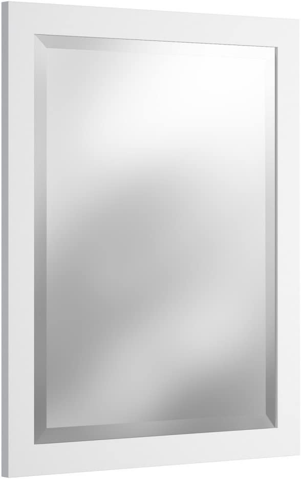 Alaterre Furniture Logan Vanity-Mirrors, White