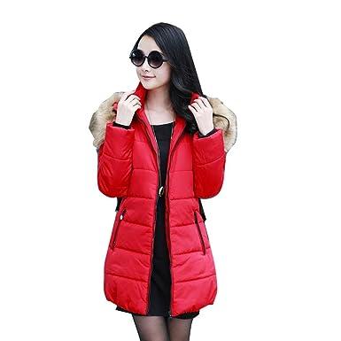 6ec605ddb9 Winter Women Warm Fur Collar hooded Down Jacket hoodie quilted Puffer Coat  parka