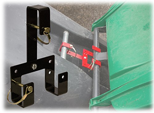 Tow Hook Cut Outs (Can Coupler, Trash day got easier and safer- Hook multiple wheeled garbage and recycling totes together for hauling trash out and back. Use with our single can Garbage Hook products)