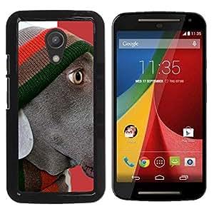 Be Good Phone Accessory // Dura Cáscara cubierta Protectora Caso Carcasa Funda de Protección para Motorola MOTO G 2ND GEN II // Plott Weimaraner Corso Retriever
