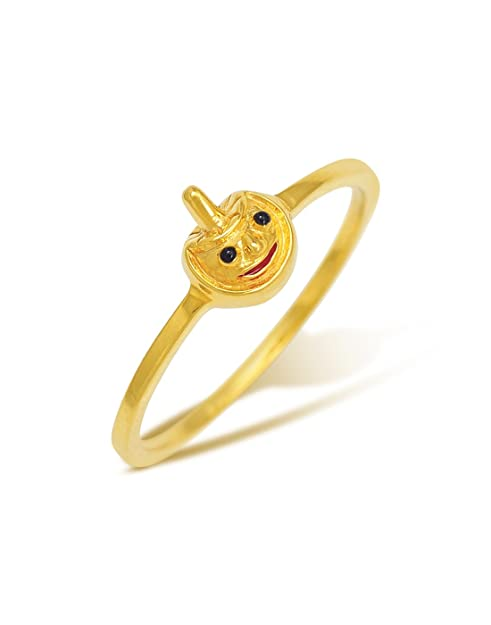 FFF 18K Yellow Gold Ring Women's Rings