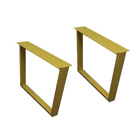 WYZQQ 2 Piezas - diseño Cuadrado - Patas de Mesa de Hierro/Base de ...