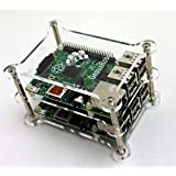 GeauxRobot Raspberry Pi 3 B 2-layer Dog Bone Stack Clear Case Box Enclosure also for Pi 2B B+ A+