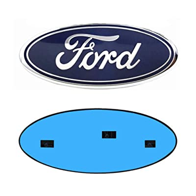 "9inch Ford Emblem, F150 Emblem Ford Front Grille Tailgate Emblem Oval 9""X3.5"" Decal Badge Nameplate Also Fits for 04-14 F250 F350, 11-14 Edge, 11-16 Explorer, 06-11 Ranger: Automotive"