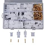 40 Set 2 3 4 6 Way Wire Connectors Housing Terminal Female and Male Terminal Kit for Car Motocycle 2.8MM
