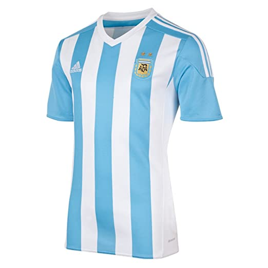 Adidas Argentina Home Soccer Jersey Climacool (White, Blue) Small