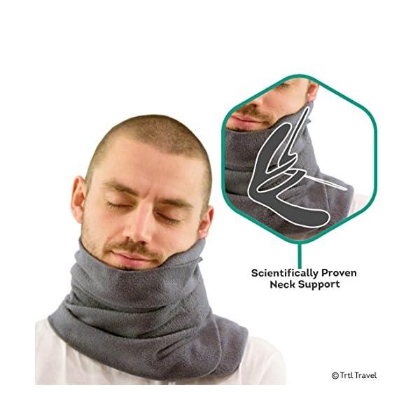Trtl Scientifically Proven Super Soft Neck Support Travel Pillow-Machine Washable-Coral