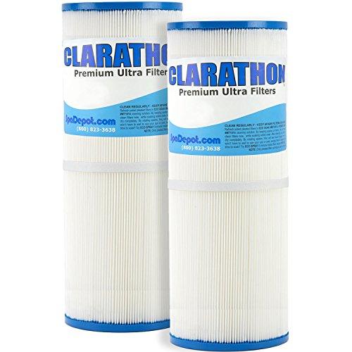 Clarathon [2] Spa Filters - Replaces Unicel C-4326, Filbur FC-2375, Pleatco PRB25-IN - Hot Tub Filter Twin Pack FC2375