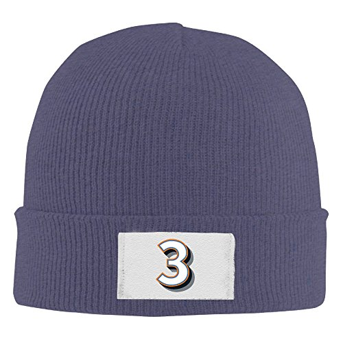 (Unisex Custom Number 3 Team Sport #3 Fashion Beanie Hat)