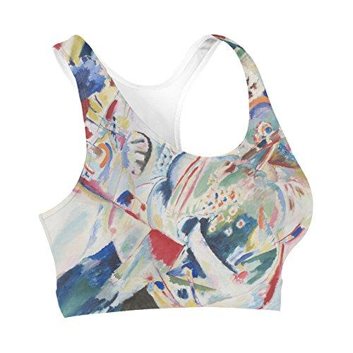 Kandinsky Abstract Art Painting Sports Bra Sport-BH XS-3XL oUlGRlzp