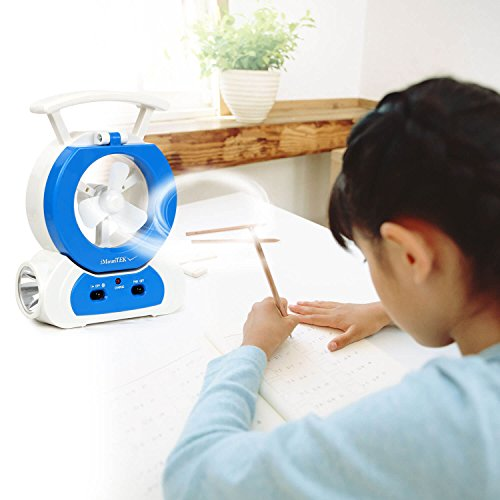 Summer Desk Lamp Fan Portable Cooling LED Flashlight Handheld Light Study Tools - Premium Outlets Phoenix