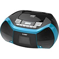 Coby MPCD-101-BLU CD Cassette Radio Player/Recorder with MP3/USB (Blue)