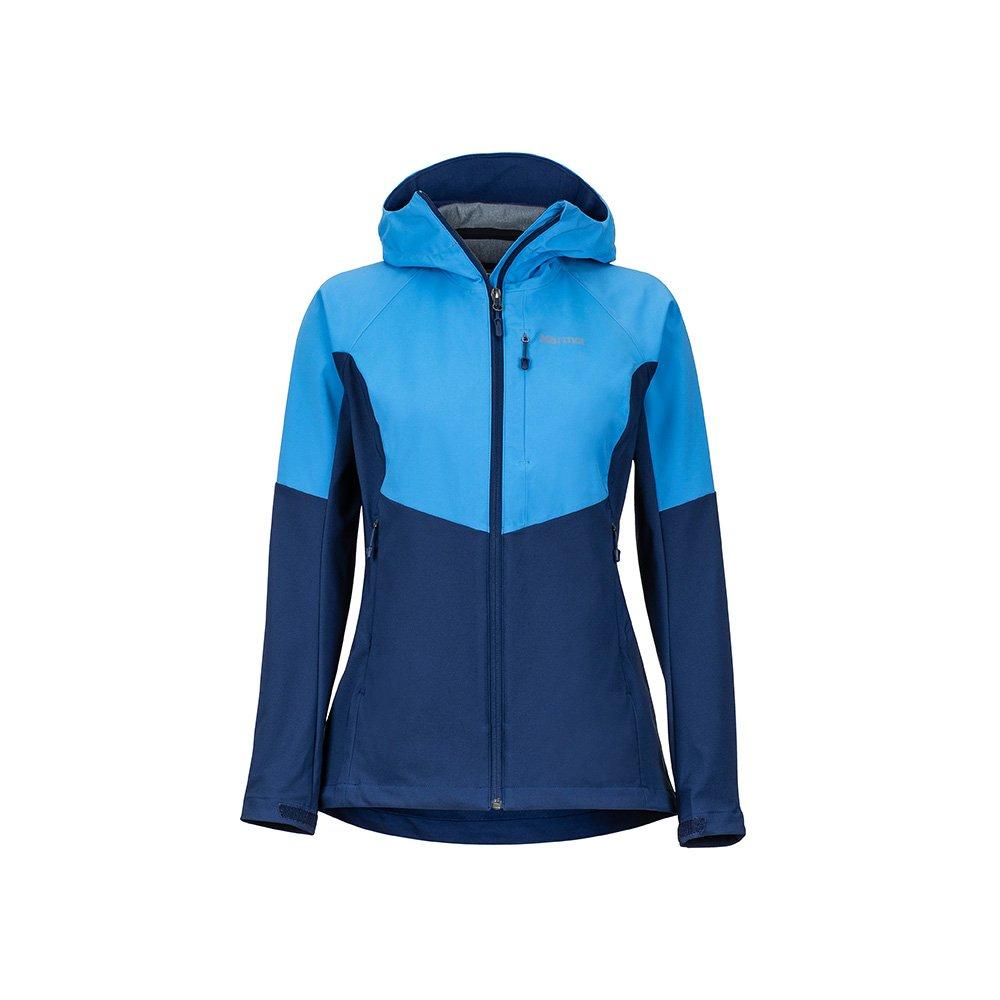 Lakeside Arctic Navy L Marmot Wm's Rom Jacket, Softshell Jacket, Outdoor Jacket, Anorak, Water Repellent, Breathable