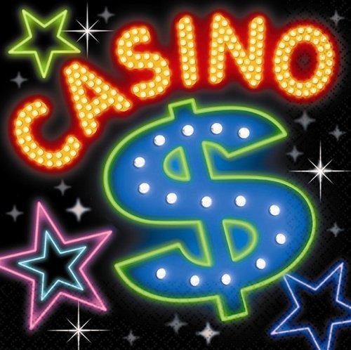 Cocktail Dice - Casino Beverage Napkins 16ct