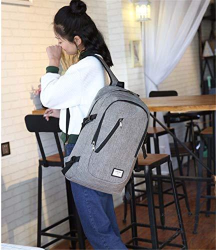 Xiuy Backpack Tipo Casual Usb Deporte 40litros De Comodas Viajes Para Hombres Escolares Mountain Gris Mochilas Multibolsillos Resistente rr17v