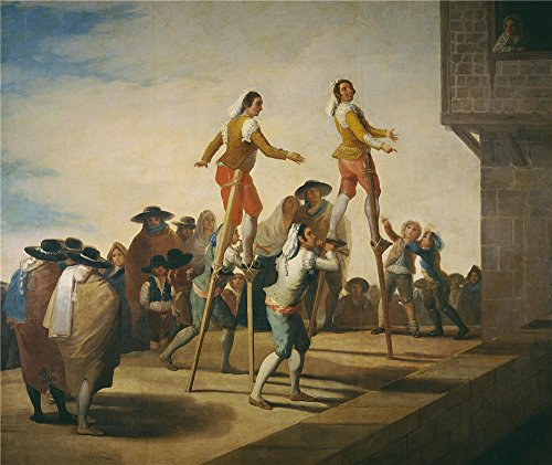 Best Stilt Costumes (High Quality Polyster Canvas ,the Imitations Art DecorativePrints On Canvas Of Oil Painting 'Goya Y Lucientes Francisco De Stilts 1791 92 ', 24 X 29 Inch / 61 X 72 Cm Is Best For Wall Art Artwork And Home Decoration And Gifts)