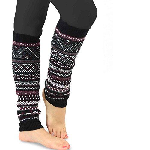 TeeHee Womenu0026#39;s Fashion Leg Warmers 3-Pack Assorted Colors ...