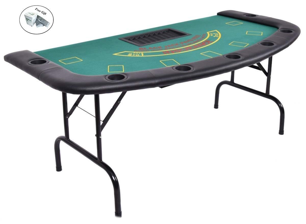 CWY B07KQ2T6QL 7人用 テキサス 重さ24時間 ホールデム 折り畳み式 ポーカー テーブル 折り畳み式 重さ24時間 B07KQ2T6QL, 肘折温泉 ほていや:036a1b99 --- 2017.goldenesbrett.net