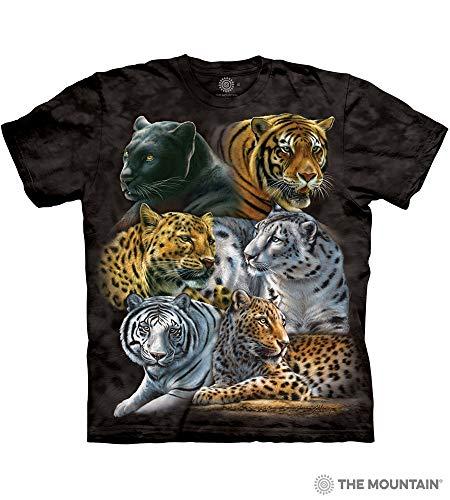 The Mountain Big Cats Adult T-Shirt, Black, XL