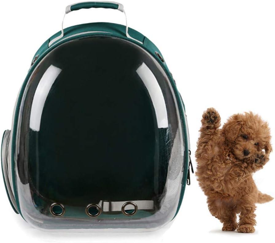 AlwaySky Mochila para Transportar Mascotas, aprobada por la aerolínea, para Perros, Transpirable, Mochila portátil para Transportar Burbujas, para Perros de Raza pequeña y Mediana