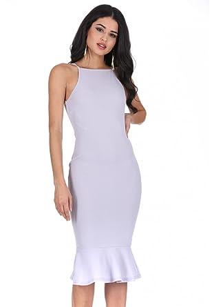 Bodycon Midi Dress with Straps