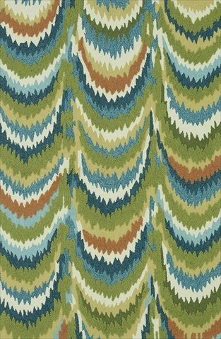Loloi Rugs Olivia Collection Hand-made 100-Percent Polyester Area Rug, 5-Feet by 7-Feet to 6-Inch, Green Blue