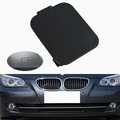 Free2choose Front Bumper Tow Hook Cover Cap for E60 E61 5-Series ()