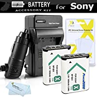 2pk Replacement NP-BX1 Battery And Charger Kit For Sony DSC-RX100M III, DSC-RX1, DSC-RX100 V, DSC-HX300, DSC-HX50V/B, HDR-CX240, HDR-PJ275, HDR-AS30V, HDR-CX440, HDR-CX405 HDR-PJ440 FDR-X1000V AS200V