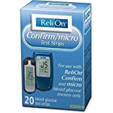 Relion Confirm/Micro Test Strips 20 Ct