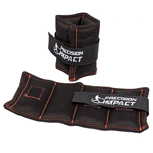 Precision Impact Wrist Weights: Durable Nylon Wrist Weights for Throwing/Pitching Training (2x10lb Set)