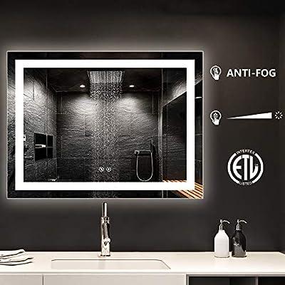 LED Backlit Mirror for Bathroom,Lighted Vanity Mirror