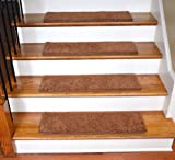 Dean Ultra Premium Stair Gripper Non-Slip Tape Free Pet Friendly DIY Carpet Stair Treads/Rugs 30'' x 9'' (15) - Color: Pumpkin Spice