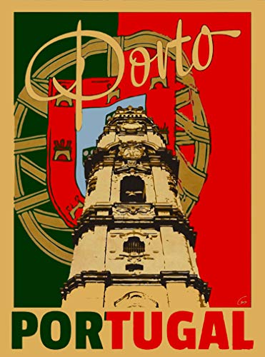 A SLICE IN TIME Porto Portugal Europe Vintage Travel Collectible Home Wall Decor Advertisement Art Poster Print. 10 x 13.5 inches Advertisement Art Poster Print