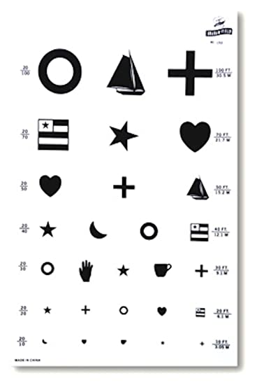 Amazon Pivit Illuminated Kindergarten Vision Test Chart 14