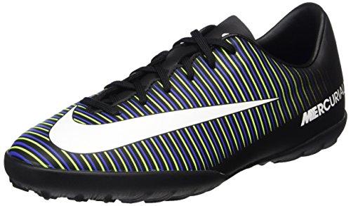 Nike Jungen 831949-013 Fußballschuhe Schwarz (Black/Wht-Elctrc GRN-Prmnt Bl)