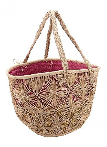 - Serene Spaces Living Natural Cutaway Raffia Bag