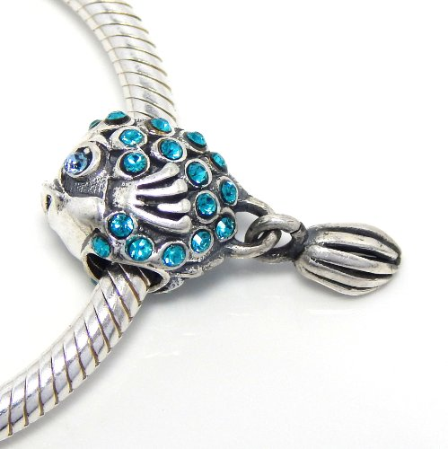 Pro Jewelry 925 Sterling Silver Quot Aquamarine Crystal Fish